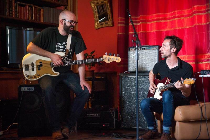 Yann Bassiste et Laurent Guitariste en résidence à la Sauzade