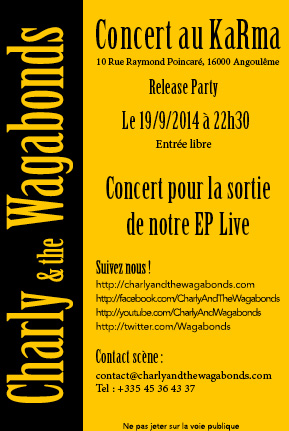 Flyer Release Party au KaRma à Angoulême